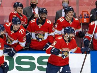 Panthers celebrating a goal